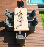 Стол обеденный из тикового дерева Besta Fiesta Парклэнд