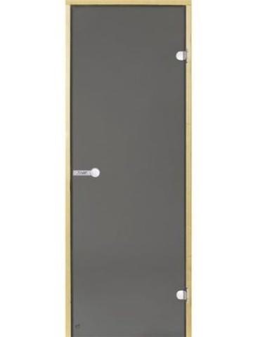 Дверь стеклянная Harvia 8х19, коробка ольха, стекло серое, артикул D81902L