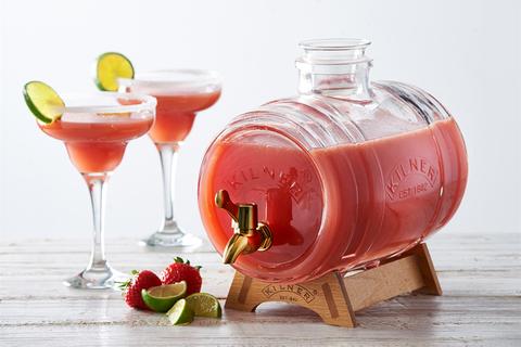 Диспенсер для напитков Barrel на подставке 3 л в подарочной упаковке