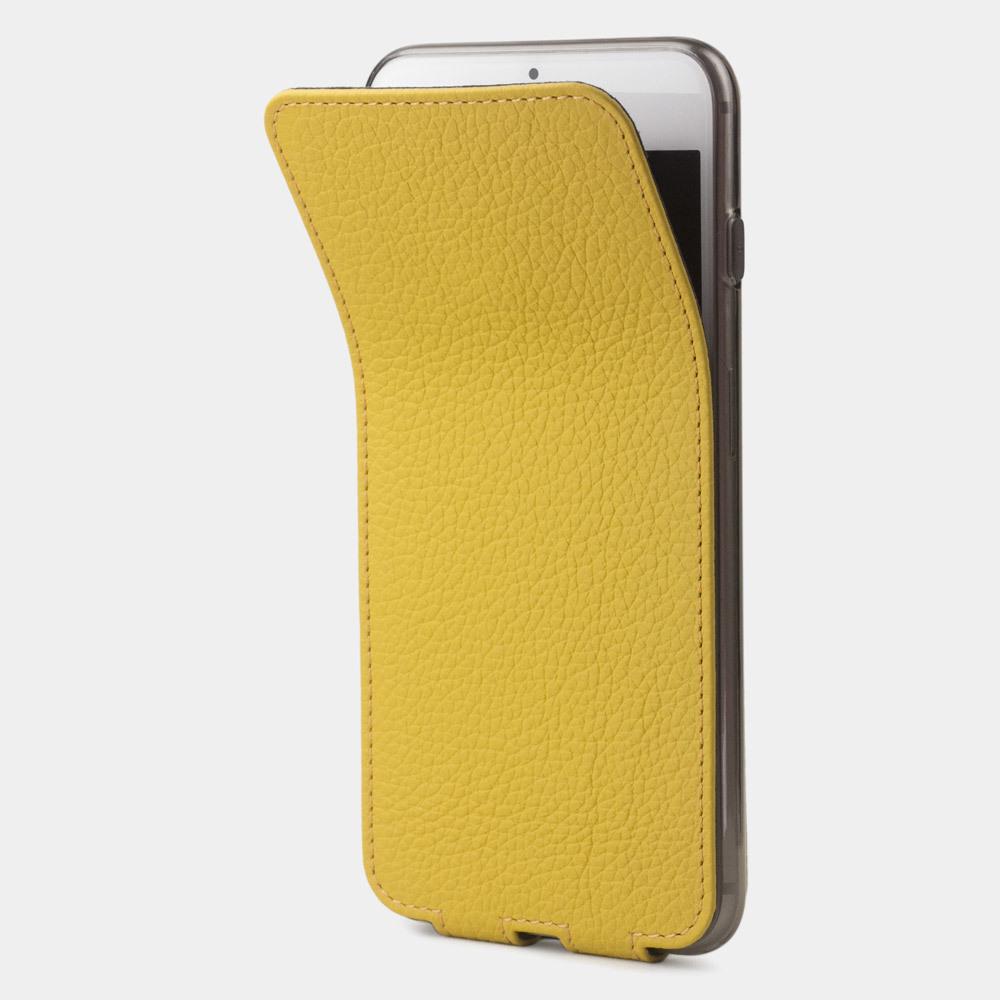 Чехол для iPhone 8/SE из натуральной кожи теленка, желтого цвета