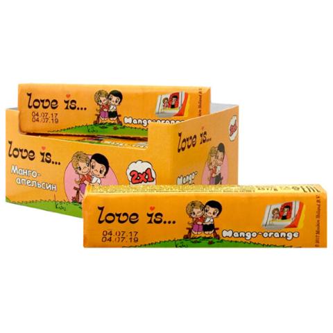 LOVE IS жевательные конфеты Манго-Оранж 18*12*25г