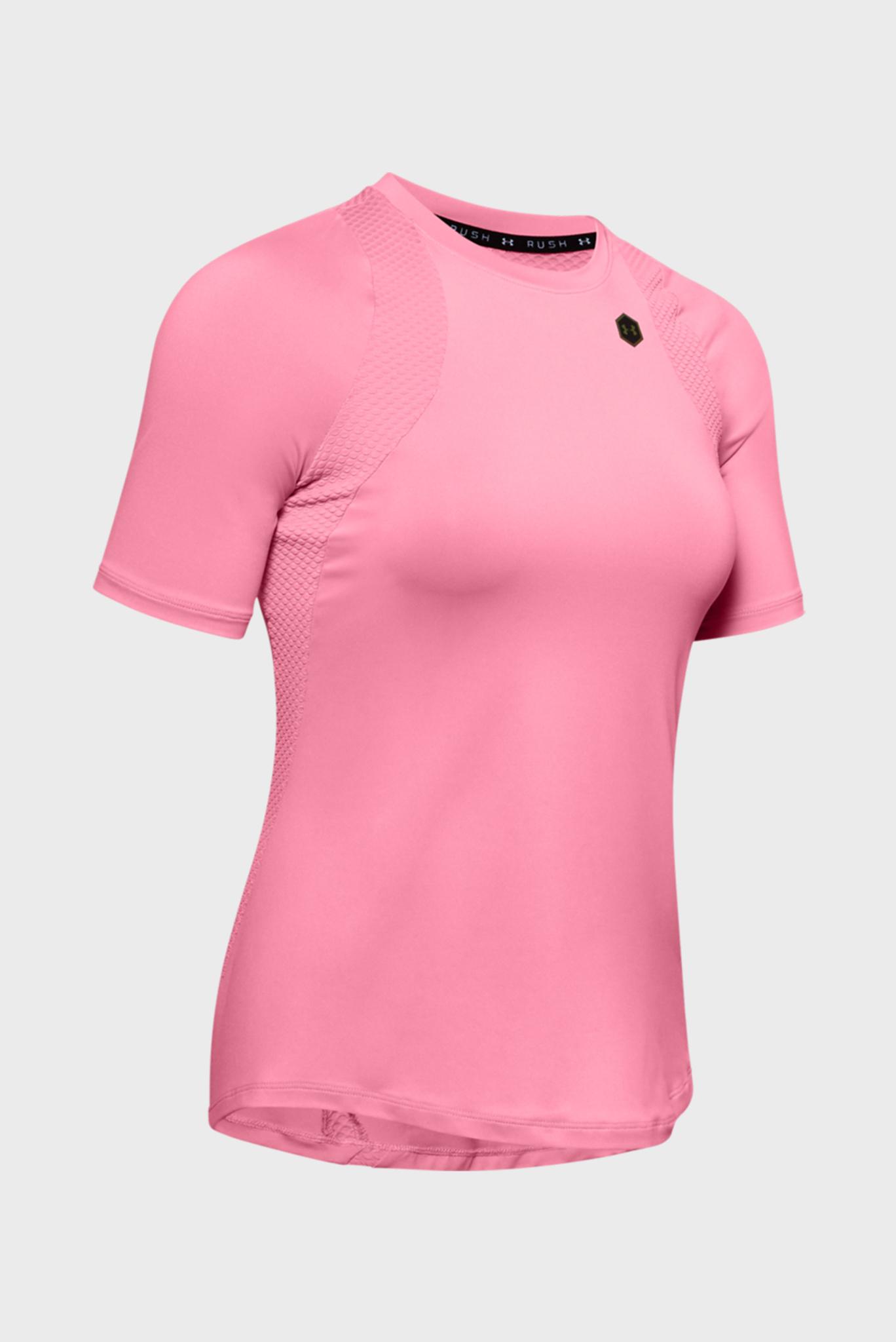 Женская розовая спортивная футболка UA Rush SS Under Armour
