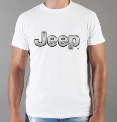 Футболка с принтом Jeep (Джип) белая 005