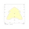 Диаграмма светораспределения для аварийного светодиодного светильника постоянного и непостоянного действия Gemini 3PLED D549 CLR TEST