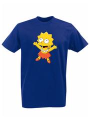 Футболка с принтом мультфильма Симпсоны (The Simpsons) синяя 012