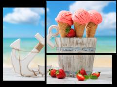 """Модульная картина """"Ice cream summer"""""""