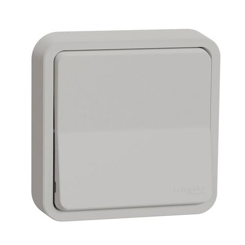 Выключатель/переключатель одноклавишный (схема 6) в сборе. ЦветБелый. Schneider Electric(Шнайдер электрик). Mureva styl(Мурева стайл). MUR39721