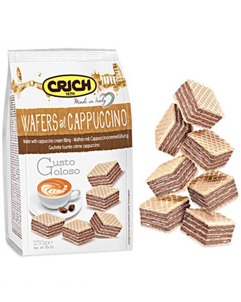 Вафли Crich с кремовой начинкой Капучино, 250 гр.