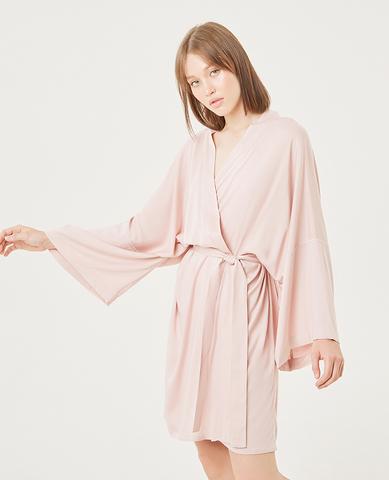 Халат- кимоно, цвет розовый