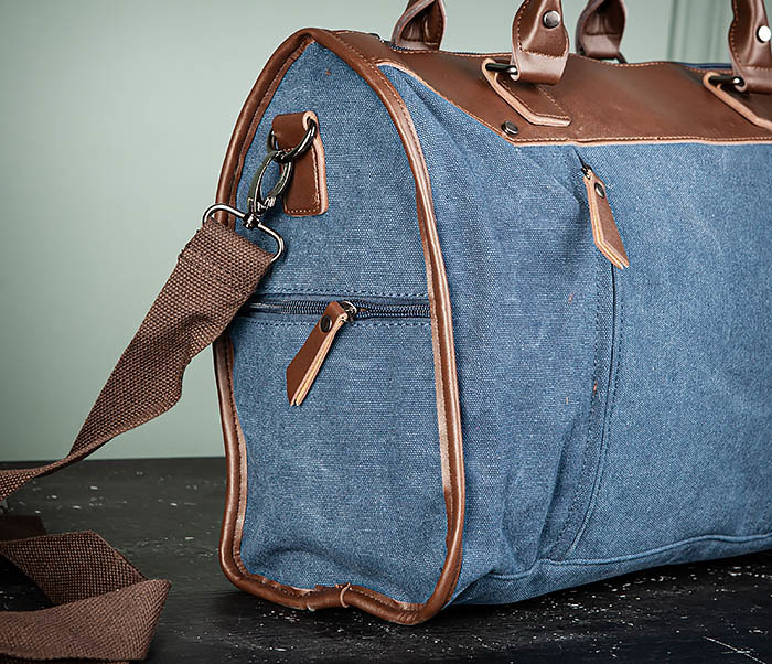BAG501-3 Сумка для ручной клади из ткани синего цвета фото 03