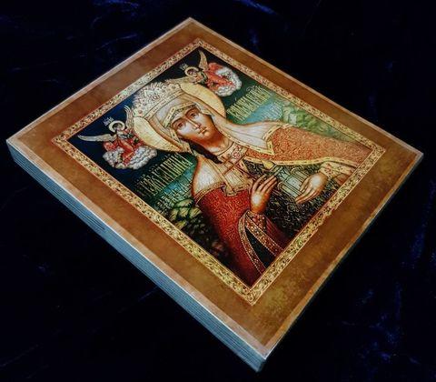 Икона святая царица Тамара на дереве на левкасе мастерская Иконный Дом