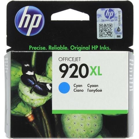 Оригинальный картридж струйный HP CD972AE (№920XL), голубой