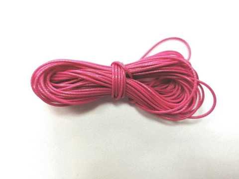 Шнур вощеный для браслетов и рукоделия 1мм*9м. Цвет фуксия (3093)