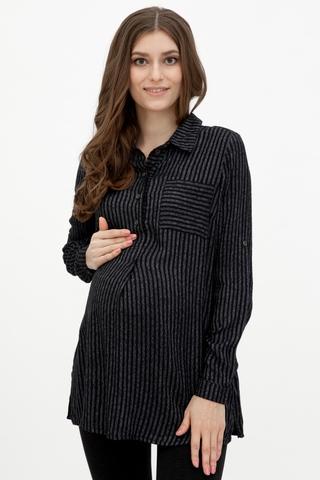 Рубашка для беременных 10869 антрацит