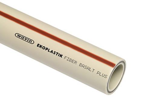 Ekoplastik Wavin Fiber Basalt Plus S 25 мм труба полипропиленовая в штангах 4 метра - 1 м