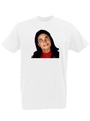 Футболка с принтом Майкл Джексон (Michael Jackson) белая 0003