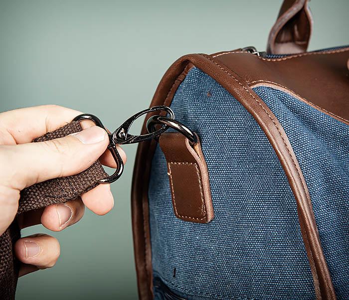 BAG501-3 Сумка для ручной клади из ткани синего цвета фото 04