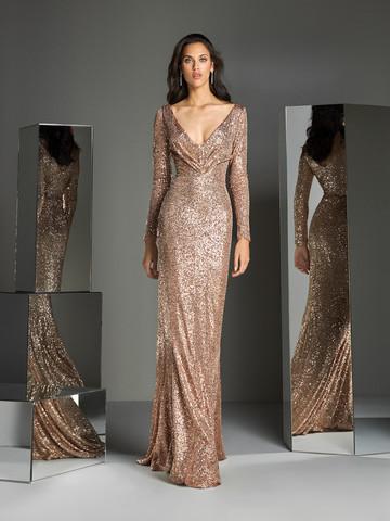 Вечернее платье классическое с длинными рукавами