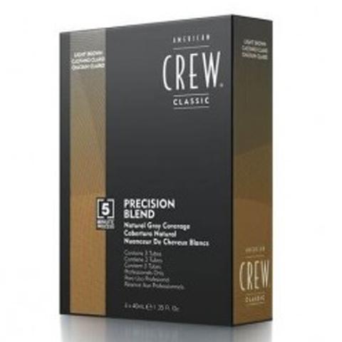 American Crew Precision Blend:Камуфляж для седых волос - пепельный тон 5-6 (Natural Gray Coverage Gray Light Brown), 3*40мл