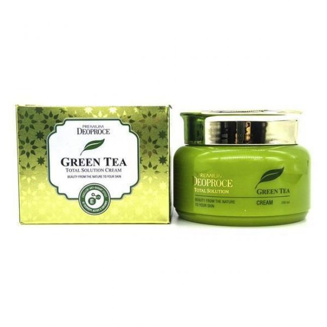 Deoproce Крем для лица на основе зеленого чая  DEOPROCE PREMIUM GREENTEA TOTAL SOLUTION CREAM 100 мл 191599206_w640_h640_toniziruyuschij-krem-s.jpg