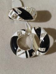 Фараон (кольцо + серьги из серебра)