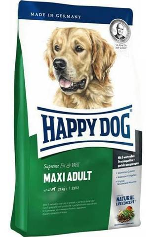 Happy Dog Maxi Adult корм для собак крупных пород весом от 25 кг без особых потребностей, 15 кг