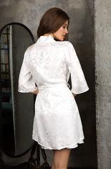 Шелковый белый халат 15153 Mia-Mia