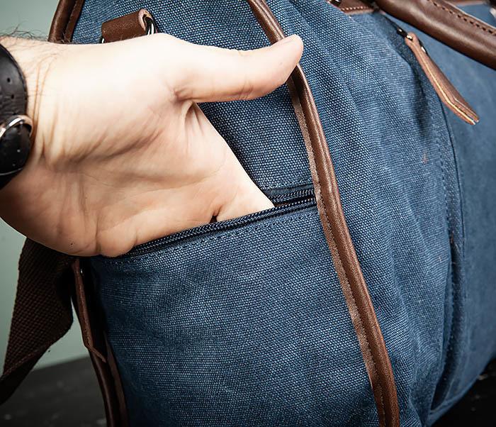 BAG501-3 Сумка для ручной клади из ткани синего цвета фото 05