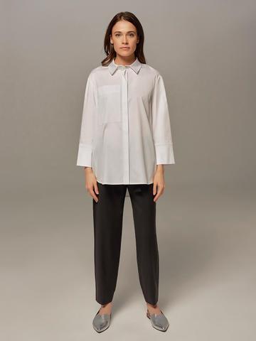 Женские брюки черного цвета с лампасами - фото 1