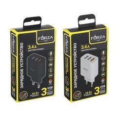 FORZA Зарядное устройство 3 USB, 3.4А