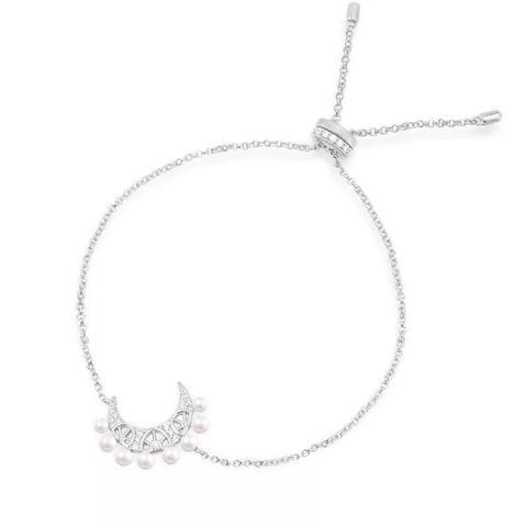 17563- Браслет Полумесяц из серебра жемчугом в стиле APM Monaco