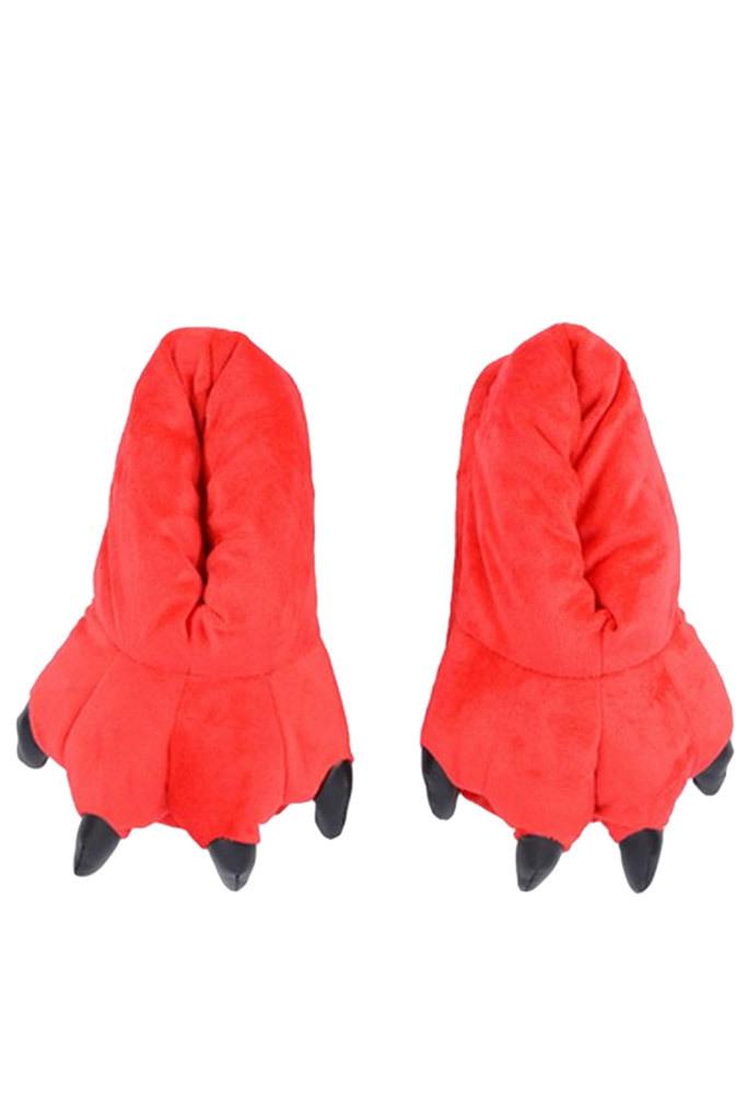 Тапки кигуруми Тапочки кигуруми красные slippers-red.jpg