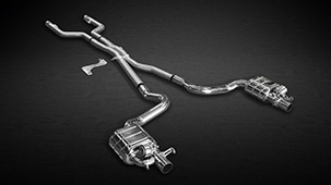 Capristo exhaust system for Mercedes C63 AMG W205