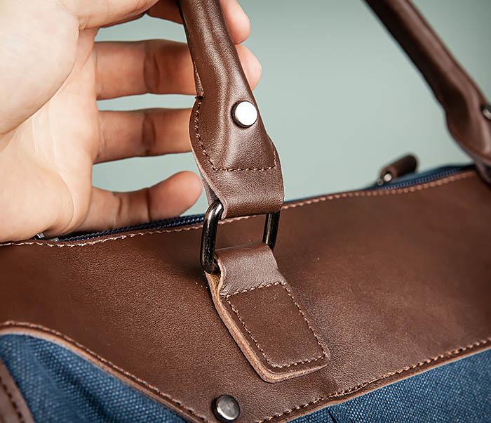 BAG501-3 Сумка для ручной клади из ткани синего цвета фото 06