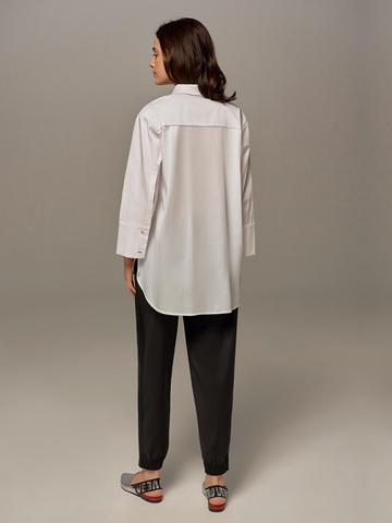 Женские брюки черного цвета с лампасами - фото 2