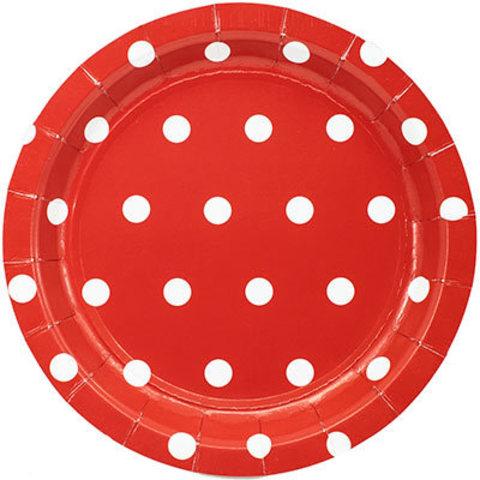 1502-3916 Тарелки малые Горошек красные, 17, см., 6 шт