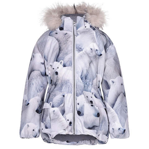 Куртка Molo Cathy Fur Polar Bear купить в интернет-магазине Мама Любит!