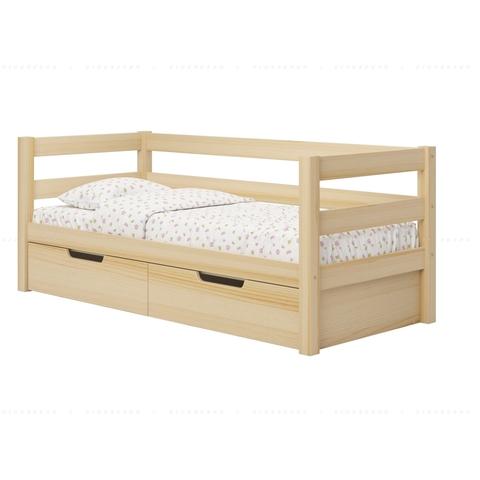 Образец установленных ящиков в кровать. Содержимое ящиков срыто от света и попадания пыли.