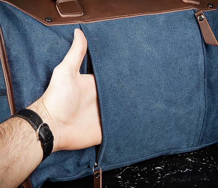 BAG501-3 Сумка для ручной клади из ткани синего цвета фото 07