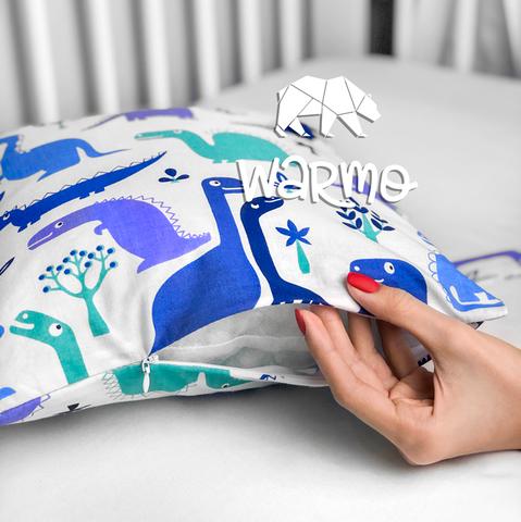 Набір бортиків-подушок в ліжечко 30x30см ДІНО