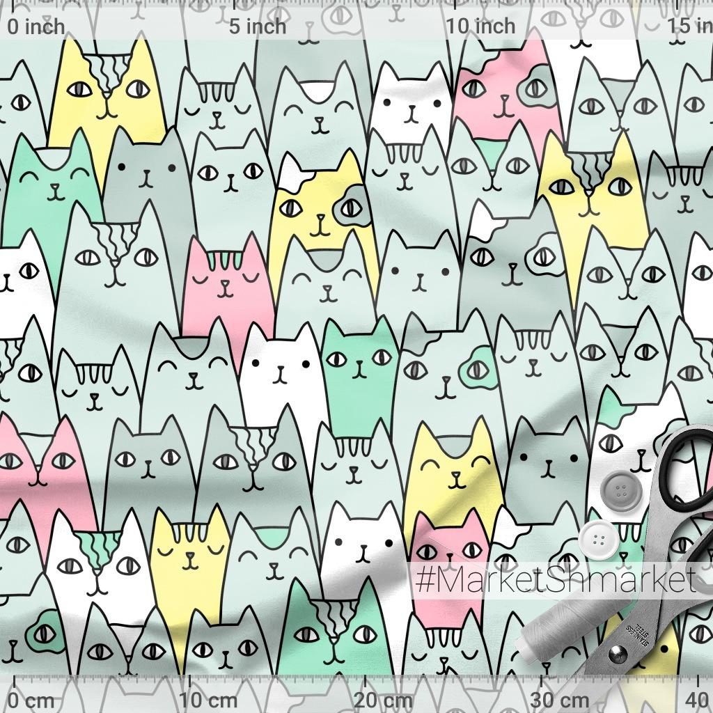 Смешные цветные коты. Cats family. Cute pets.