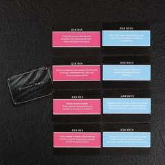 Эротический набор «Во власти страсти» (10 карт, маска и чулки)