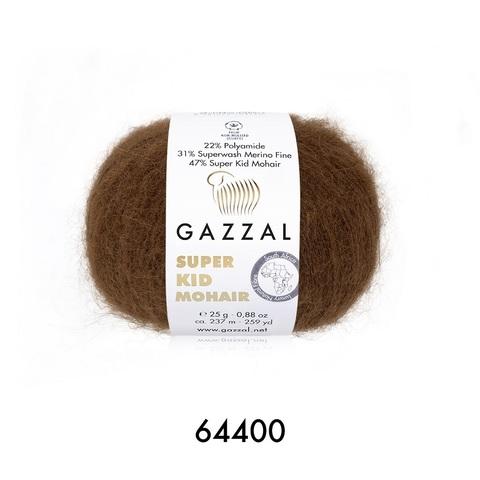 Пряжа Gazzal Super Kid Mohair цвет 64400