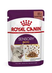 Консервированный полнорационный корм для взрослых кошек, Royal Canin Sensory taste, (в соусе)