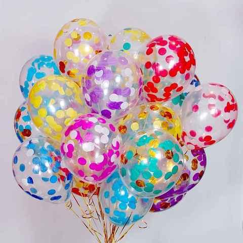 Воздушные шары с конфетти ассорти
