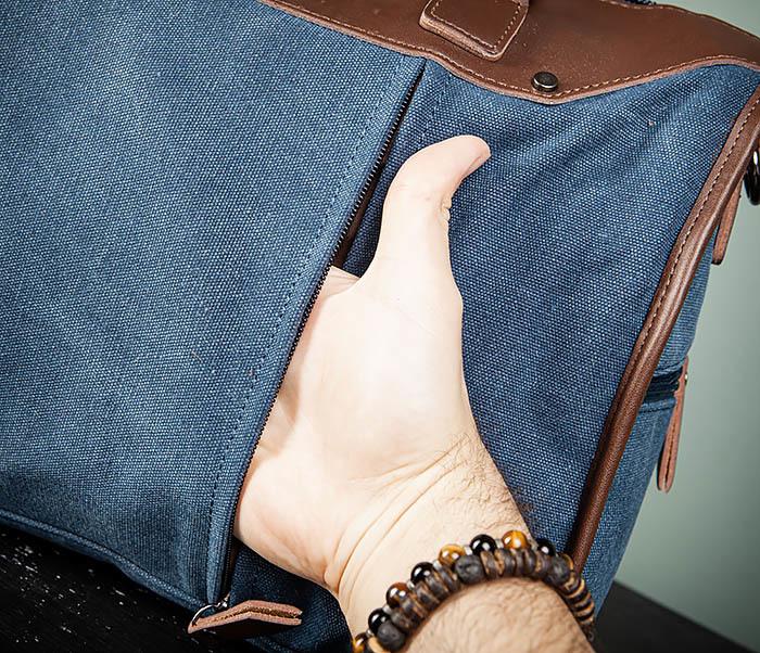 BAG501-3 Сумка для ручной клади из ткани синего цвета фото 08
