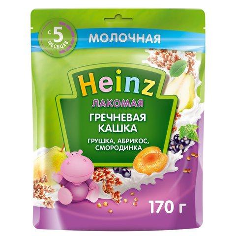 Каша лакомая Heinz гречневая груша, абрикос, смородина, 5+ мес