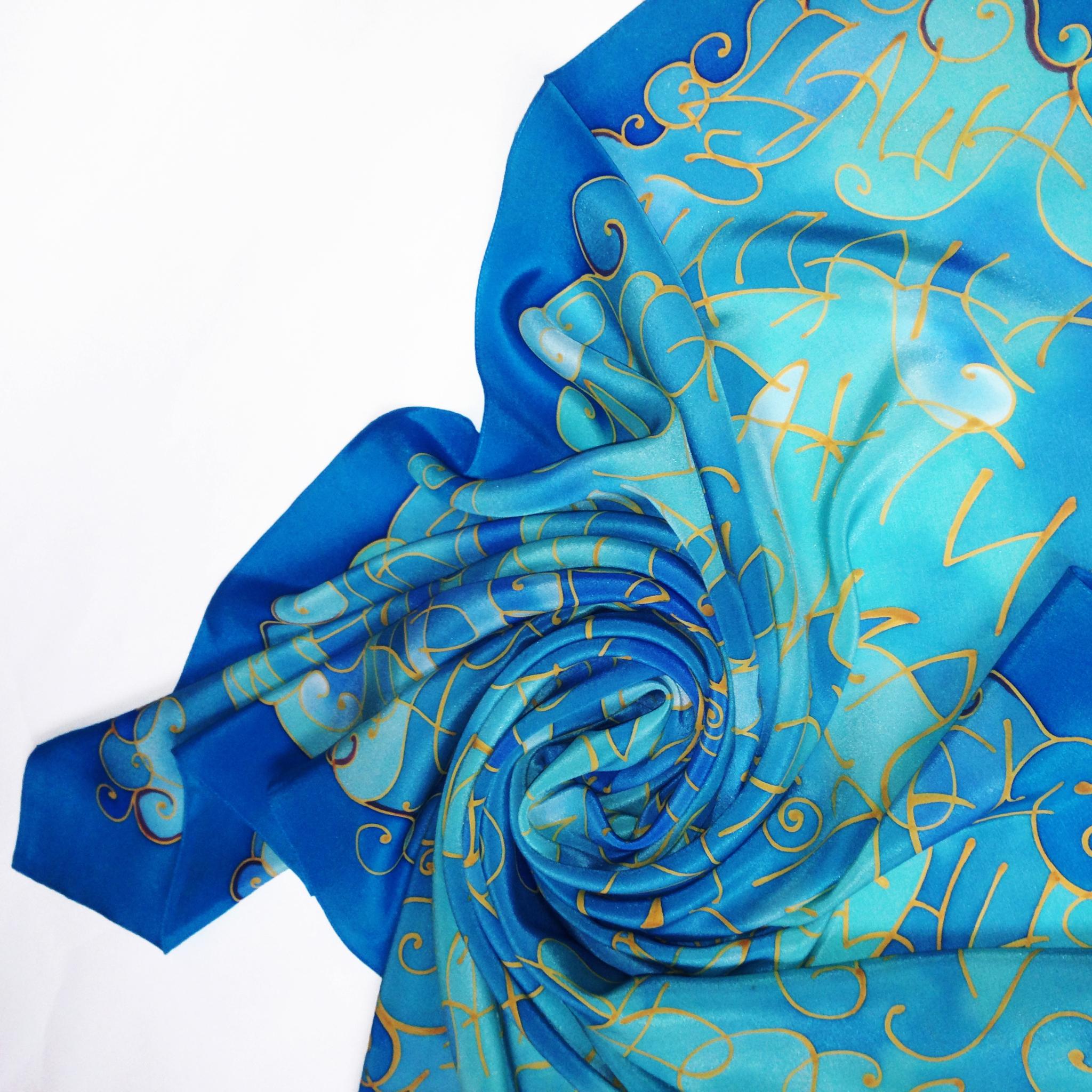 Шелковый платок батик Имена