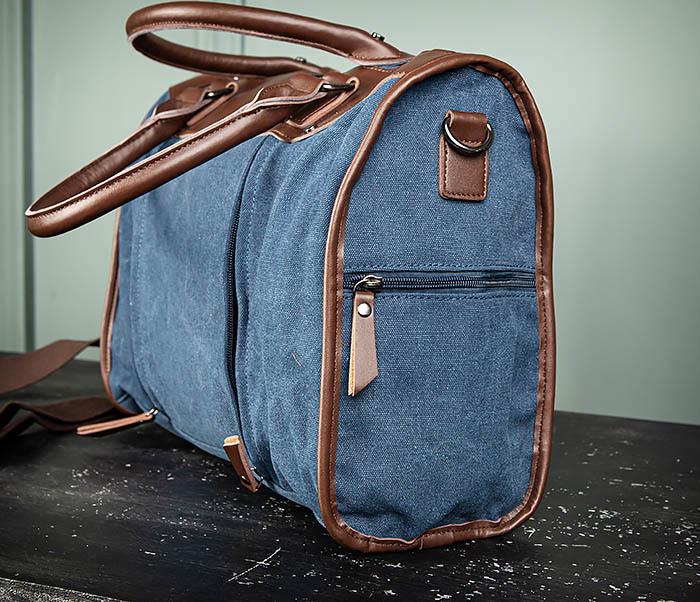 BAG501-3 Сумка для ручной клади из ткани синего цвета фото 09