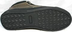 Ботинки мужские зимние кожаные с натуральным мехом Rifellini Rovigo 046 Brown Black.